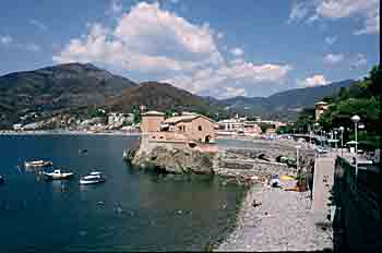 Levanto has a big beach and good surfing conditions